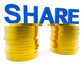 Share Money Shows Savings Increase And Advance