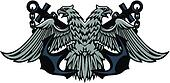 Double headed Imperial eagle on anchors