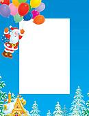 Christmas border with Santa Claus
