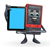 Computer Cabinet Character with tab