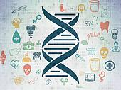 Health concept: DNA on Digital Paper background