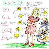 Warm forecast