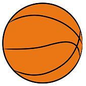 orange basketball isolated - illustration