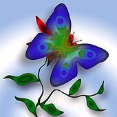 Decorative Blue Butterfly