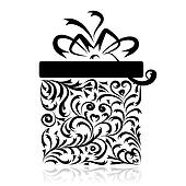 Gift box stylized for your design
