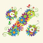 Percent sign. Floral design. See also signs in my gallery