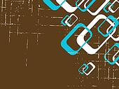 Grungy brown retro background with rectangles
