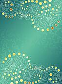 Turquoise background with delicate swirls,vertical