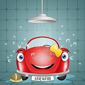 Funny car at car wash