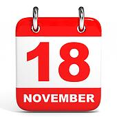 Calendar. 18 November.