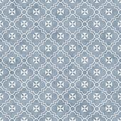 Pale Blue and White Maltese Cross Symbol Tile Pattern Repeat Bac