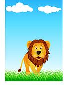 Funny lion cartoon