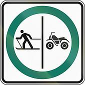 Skier And ATV Lane in Canada
