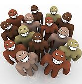 Diverse Group of People - Smiling Faces