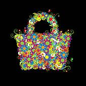 Floral shopping bag, summer sale. See also floral style images in my gallery
