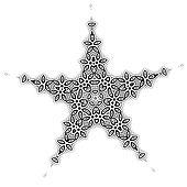 Star shape decoration for your design