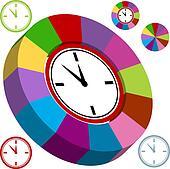 Business Clock Chart