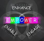 Encouragement Words Displays Empower Enhance Engage and Enable
