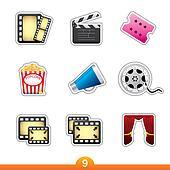 Sticker series 9 - film and movie