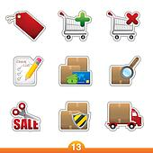 Sticker series 13 - internet shopping