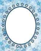 Jewish star photo frame border