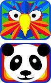 Bird and Panda Masks