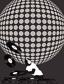 Dj and Disco Ball