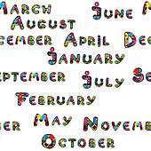 months pattern