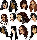 Brunette Women Faces