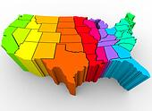 United States Rainbow of Colors - Cultural Diversity