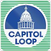 Route marker for the Capitol Loop in the US