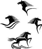 Black horses symbols