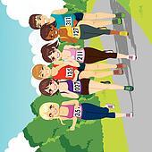 Marathon Running Competition