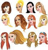 White Women Faces