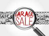 GARAGE SALE word cloud
