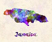 Jamaica in watercolor
