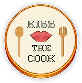 Kiss the Cook Embroidery