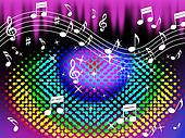 Colorful Music Background Means Harmony And Song