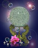 Crystal gazing ball magical