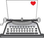 Old Typewriter Heart