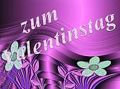 in German letters, all love for valentines day
