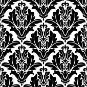 Bold black and white arabesque pattern design