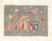Christmas Nativity scene. Jesus, Ma