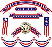 American patriotic ribbons