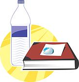Book and water