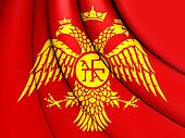 Byzantine Eagle, 3D Flag of Palaiologos Dynasty.