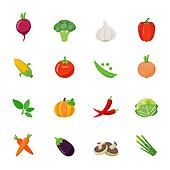 Set of Vegetable Icon