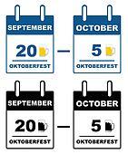 Oktoberfest calendar