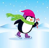Ice Skating Penguin