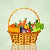 vegetables in the basket